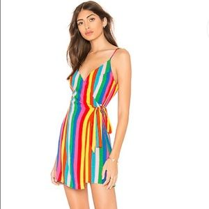 Show me your Mumu say jay wrap dress tulum stripe